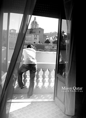 (Missy   Qatar) Tags: bw italy white black window river florence view curtain best bin ali missy qatar my alkhater moammed