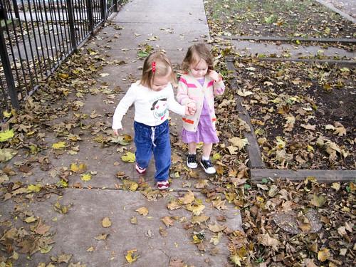 Friends strolling