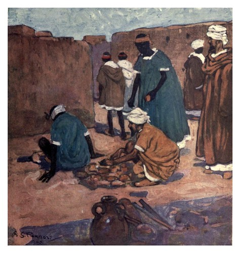 025- Fabricando ladrillos en Marrakesh-Morocco 1904- Ilustraciones de A.S. Forrest