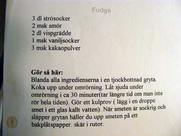 Recept fudge