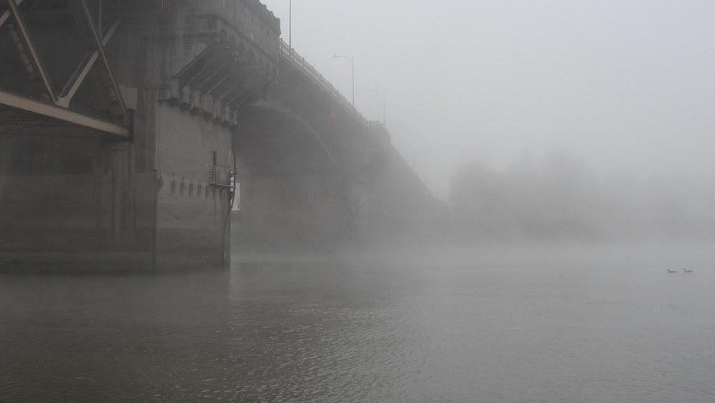 Foggy Christmas Eve Morrison Bridge