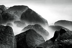 Sonoma Beach, Jenna, CAHigh Tide (gosseti) Tags: ocean california bw white mist abstract black detail beach water canon coast rocks exposure waves natural pacific tide sonoma rocky vivid minimal sharp formation crisp coastal filter edge 7d features splash transfer 1740mm jenner chilled f40l silverefex 110nd