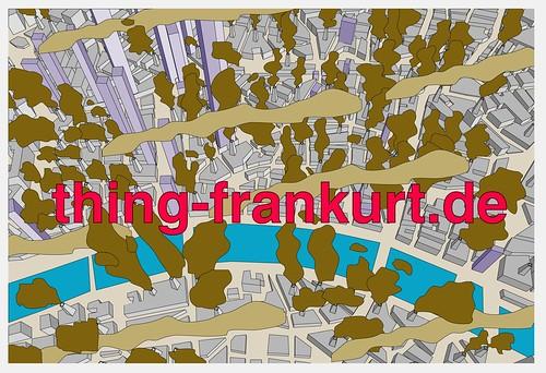 Thing Frankfurt Werbepostkarte 2003 Frankfurt raucht