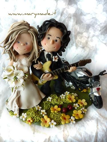 Cake Topper Personalizzati per Personaggi famosi: Maddalena Corvaglia e Stef Burns