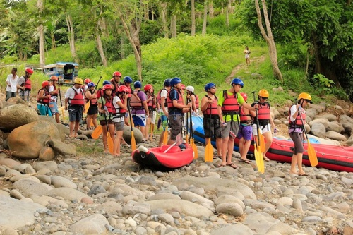 boom before white water rafting davao