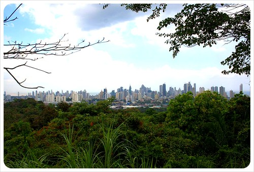Panama city skyline from Parque Metropolitano Panama City