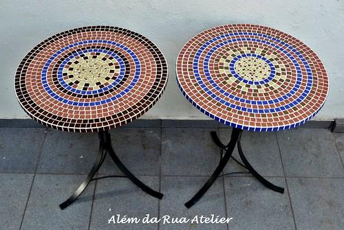 mesas em mosaico