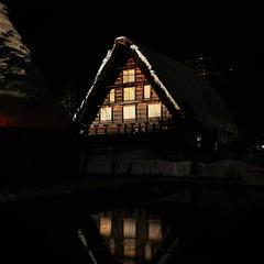 ✪世界遺産白川郷のライトアップ③ - 岐阜県白川村- (m-miki) Tags: nikon d610 japan 岐阜 白川郷 合掌造り 夜 夜景 冬 冬景色 水面 雪 雪景色 ライトアップ winter scenery snowy landscape japanese architecture shirakawago night view light up