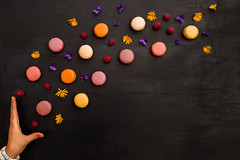8/52 Sweet (Nathalie Le Bris) Tags: main mano hand macaron colorful couleur stilllife