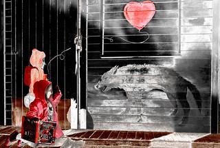 L'amore e il coraggio allontanano le nostre paure - elaborazione (grazie Sofia)