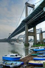 Boats and bridges 3 (PAUL YORKE-DUNNE) Tags: bridges boats river tamar saktash saltash rivertamar