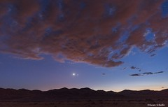 Planetary conjunction (Photosuze) Tags: landscape sky planets mountains clouds jupiter venus desert california mojave trona