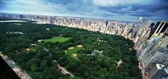 The Crown Jewel of New York (Tony Shi Photos) Tags: nyc newyorkcity panorama centralpark hdr ballpark thegreatlawn ontop panoramicview jacquelinekennedyonassisreservoir tonyshi thecrownjewelofnewyork