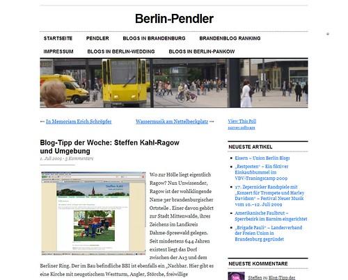 Blog-Tipp der Woche: Steffen Kahl-Ragow und Umgebung « Berlin-Pendler