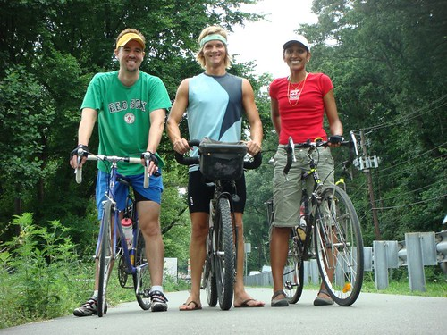 The Bike Trio: Mike, Nicolai, and Trina...