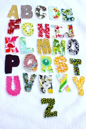 rag quilt letters