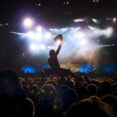 Metallica at Rock Werchter 2009  (crsan) Tags: party people music playing festival rock metal night dark lens outdoors lumix lights james big concert hands sitting belgium live famous crowd hard creative commons surfing panasonic explore cc creativecommons metallica flare backlit musik crowdsurfing 2009 lots headliner kirk werchter belgien lecia crowdsurf hetfield 500x500 crowdsurfer bsquare hammet lx3 dmclx3 crsan holmr lastfm:event=763300 flickr:user=crsan httpwwwchristianholmercom christianholmercom