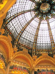 Galeries Lafayette Dome & Balconies (Kurlylox1) Tags: paris france glass store steel stainedglass artnouveau dome balconies galerieslafayette department anawesomeshot