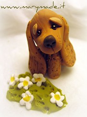 How much is that doggy in the window?...ruff ruff! (marytempesta) Tags: flowers dogs handmade polymerclay fimo cockerspaniel spaniels