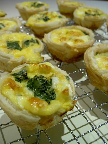 Spinach, Feta and Parmesan mini quiches