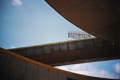 bridges (monkeymillions) Tags: bridge sky film marina 35mm lomo lca brighton sweep bold