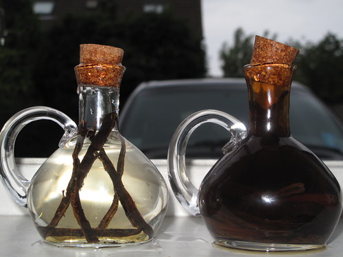 Vanilla extract- before and after