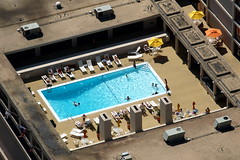 Cool Pool (tim.perdue) Tags: blue ohio tower water pool swimming observation hotel downtown cincinnati deck telephoto carew