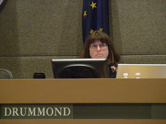 Harriet Drummond at the July 7 Assembly meeting - voted yes on AO 64