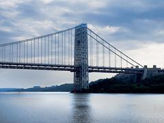 George Washington Bridge NY side (Mitch Waxman) Tags: bridge hudsonriver georgewashingtonbridge fireboatjohnjharvey