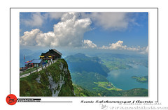 Living at the edge (klaus mack) Tags: blue cliff mountain lake alps salzburg st rock clouds train austria europe hiking climbing wolfgang wolfgangsee mondsee salzkammergut