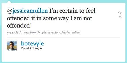 Twitter / David Botevyle: @jessicamullen I'm certain ...