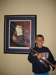 Avery with Trumpet
