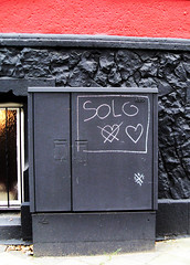 solo, tribute to trio (l.e.t.) Tags: street streetart art love girl germany graffiti design sketch artwork stencil sticker artist gallery contemporary kunst exhibition pop spray popart trio artshow dsseldorf