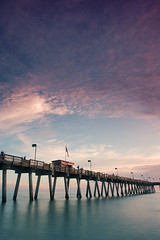 (zaneone) Tags: venice sunset usa seascape beach florida ef1740 venicepier eos40d zaneone