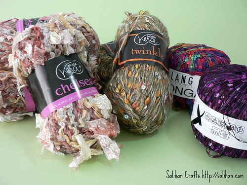 Novelty Yarn : Novelty Yarn Crochet Hair Ties Salihan Crafts Blog