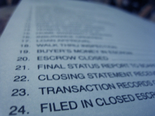 escrow papers (photo tip #3)