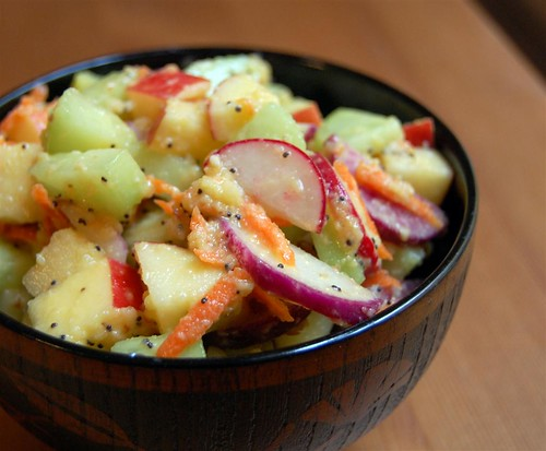 Salad with fresh apple mayonnaise