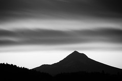 insomnia (nosha) Tags: summer sky bw mountain nature beautiful beauty oregon sunrise portland landscape nikon september mount mthood hood f56 mont 2009 lightroom 200mm blackmagic 160sec nosha 18200mmf3556 nikond300 summer2009 160secatf56 californiaoregon2009