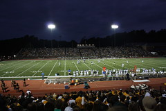 Saturday night's all right for fighting (Sarah Ross photography) Tags: williamandmary wm collegeofwilliamandmary tribe football home game stable stadium footballgame night saturdaynight ccsu greenandgold nightlights sarahrossphotography landscape wideopenspaces outside outdoors wideangle dark nighttime darkness nightscape landscapes afterdark