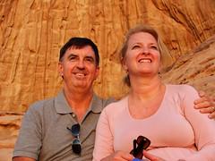 Carl and Kari's Wadi Rum Sunset (capnmikesphotos) Tags: travel camp desert wadirum tribal tent adventure jordan bible nomad tribe 2009 nomads biblical jordanian bedouin nomadic capnmikesphotos