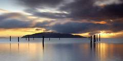 Angel Island Sky #4 - Sausalito, California (PatrickSmithPhotography) Tags: sanfrancisco california longexposure travel sunset red wallpaper vacation seascape nature water fog canon landscape marin bayarea 5d sanfranciscobay pilings angelisland sausalito mkii