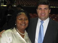 Cheryl Landis and Senator Peters