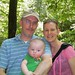 week 23- daddy, mommy, and Ben hiking
