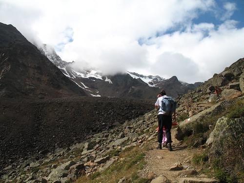 Der Weg hinauf zur Höchsterhütte