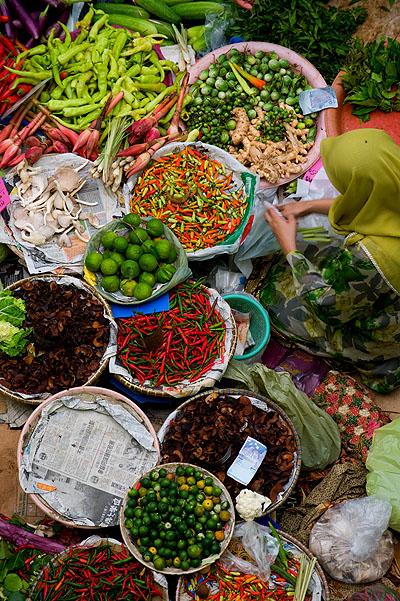 Inside Pasar Siti Khadijah, Kota Bharu Malaysia's Central Market