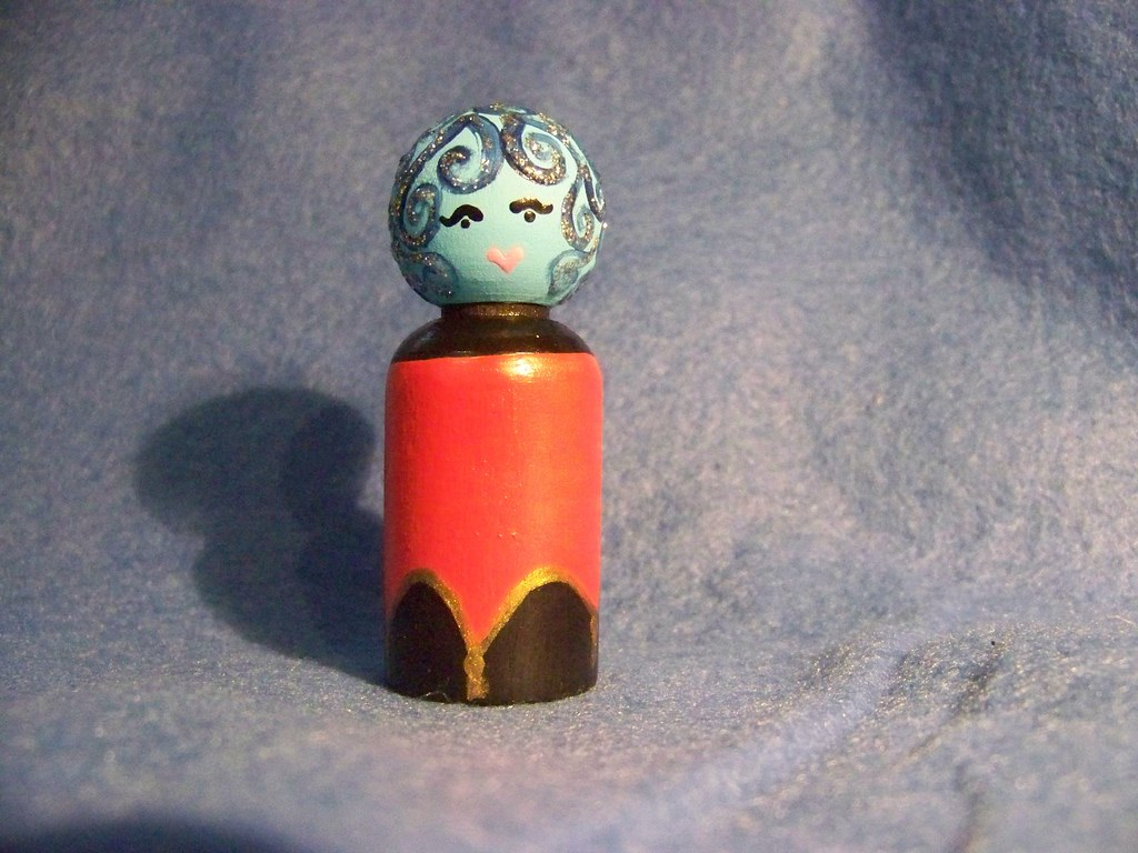 Madame Leota wooden peg person