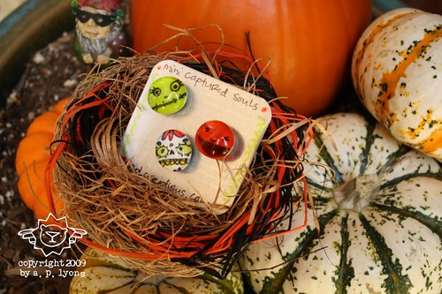 mini captured souls magnets - jol, zombie and sugar skull {set a}