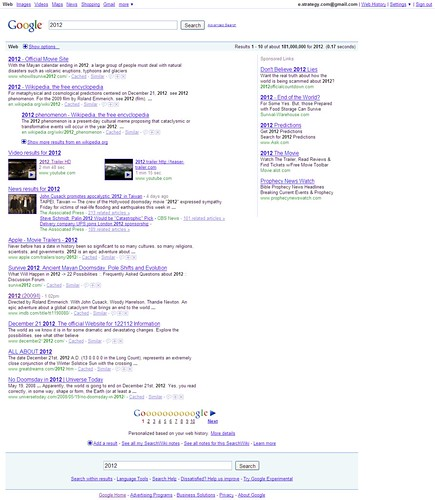 Google Search Results for 2012 - 10/06/09