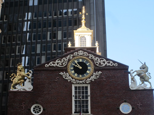 The lion and the unicorn at Old State House