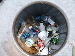 Waste in a Recycling Bin (Zilkha Center) Tags: sustainability williamscollege